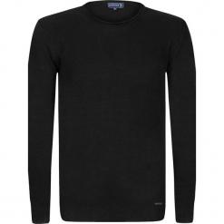 """Sweter """"Spikes"""" w kolorze czarnym. Niebieskie swetry klasyczne męskie marki GALVANNI, l, z okrągłym kołnierzem. W wyprzedaży za 159,95 zł."""