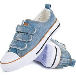 Trampki chłopięce: Jeansowe trampki na rzepy PERLA