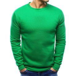 Bluzy męskie: Bluza męska gładka zielona (bx2000)