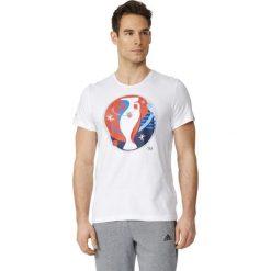 Adidas Koszulka męska Euro Logo biała r. XL (AI5606). Białe koszulki sportowe męskie marki Adidas, m. Za 40,20 zł.