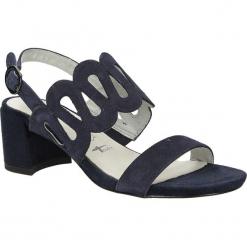 Sandały z nubuku na słupku Tamaris 1-28378-38. Szare sandały damskie na słupku marki Tamaris, z materiału, na sznurówki. Za 169,99 zł.