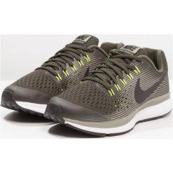 Nike Performance ZOOM PEGASUS 34  Obuwie do biegania treningowe sequoia/black/dark stucco/volt. Zielone buty do biegania damskie marki Nike Performance, z materiału. Za 359,00 zł.