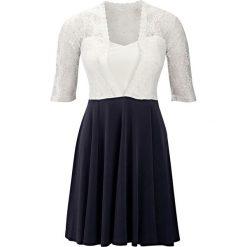 Sukienki balowe: Sukienka koronkowa bonprix czarno-kremowy