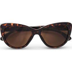 """Okulary przeciwsłoneczne """"Cateye"""" bonprix brązowy. Brązowe okulary przeciwsłoneczne damskie aviatory bonprix. Za 37,99 zł."""