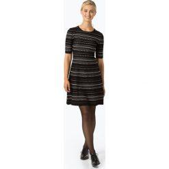 HUGO - Sukienka damska – Swany, czarny. Czarne sukienki z falbanami marki HUGO, l, z dżerseju, w kształcie a. Za 999,95 zł.