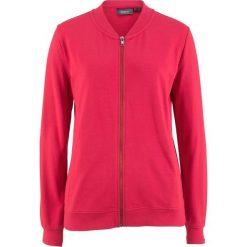 Bluza rozpinana z kołnierzykiem w stylu college bonprix czerwony. Czerwone bluzy rozpinane damskie marki bonprix. Za 49,99 zł.