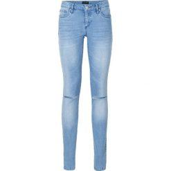 """Dżinsy Skinny push up bonprix niebieski """"bleached"""". Niebieskie boyfriendy damskie bonprix, z jeansu. Za 109,99 zł."""