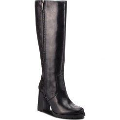 Kozaki EVA MINGE - Torrecheco 4AA 18SF1372610EF 101. Czarne buty zimowe damskie Eva Minge, ze skóry ekologicznej, przed kolano, na wysokim obcasie, na obcasie. Za 869,00 zł.