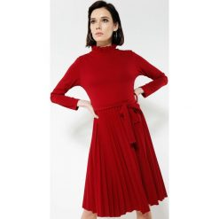 Bordowa Sukienka For You. Czerwone sukienki other, uniwersalny, midi. Za 89,99 zł.