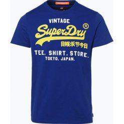 T-shirty męskie z nadrukiem: Superdry – T-shirt męski, niebieski
