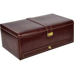Biżuteria i zegarki: Pudełko na zegarki 10 komorowe Heritage brązowe