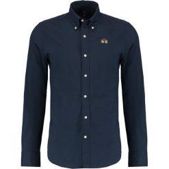 La Martina SLIM FIT Koszula navy. Niebieskie koszule męskie na spinki La Martina, m, z bawełny. Za 419,00 zł.