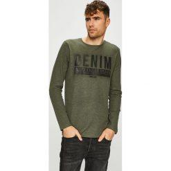 Tom Tailor Denim - Sweter. Szare swetry klasyczne męskie TOM TAILOR DENIM, l, z bawełny, z okrągłym kołnierzem. Za 119,90 zł.