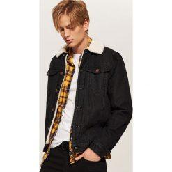 Ocieplana kurtka jeansowa - Czarny. Czarne kurtki męskie jeansowe House, l. Za 189,99 zł.