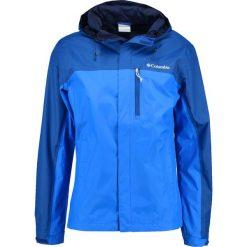 Columbia POURING ADVENTURE  Kurtka hardshell blau. Niebieskie kurtki sportowe męskie Columbia, m, z hardshellu. Za 379,00 zł.