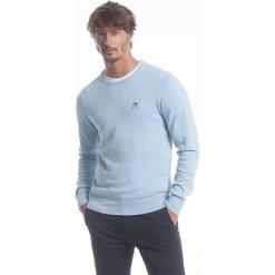 Sweter w kolorze błękitnym. Niebieskie swetry klasyczne męskie marki GALVANNI, l, z okrągłym kołnierzem. W wyprzedaży za 173,95 zł.