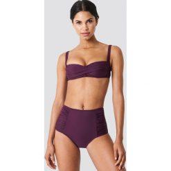 Trendyol Dół bikini z wysokim stanem i drapowaniem - Purple. Fioletowe bikini Trendyol. W wyprzedaży za 40,48 zł.