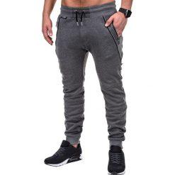 Spodnie męskie: SPODNIE MĘSKIE DRESOWE P421 – GRAFITOWE
