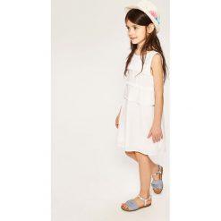 Sukienki dziewczęce: Sukienka bez rękawów – Biały