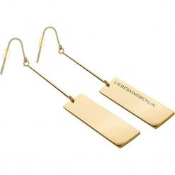 Kolczyki. Żółte kolczyki damskie s.Oliver & Liebeskind, ze stali. W wyprzedaży za 130,95 zł.