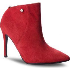Botki EVA MINGE - Candelaria 4O 18SF1372599EF 808. Czerwone buty zimowe damskie Eva Minge, ze skóry, na obcasie. Za 519,00 zł.