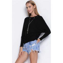 Czarny Sweter Next Breath. Czarne swetry klasyczne damskie Born2be, l, z okrągłym kołnierzem. Za 69,99 zł.