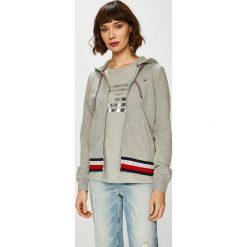 Tommy Hilfiger - Bluza. Szare bluzy z kapturem damskie marki TOMMY HILFIGER, l, z bawełny. Za 449,90 zł.