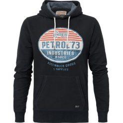 Bluza z kapturem. Czerwone kardigany męskie Petrol Industries, l, z bawełny, z kapturem. Za 141,08 zł.