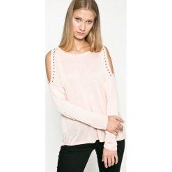 Only - Sweter. Czarne swetry klasyczne damskie marki ONLY, l, z materiału, z kapturem. W wyprzedaży za 59,90 zł.