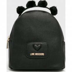 Love Moschino - Plecak. Czarne plecaki damskie marki Love Moschino, z materiału. Za 739,90 zł.