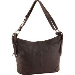 Torebki klasyczne damskie: Skórzana torebka w kolorze ciemnobrązowym – 30 x 25 x 16 cm