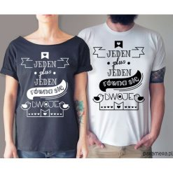 Koszule nocne i halki: S-XXL Jeden plus Jeden koszulki dla pary
