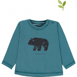 Koszulka w kolorze morskim. Niebieskie t-shirty chłopięce z długim rękawem bellybutton, z nadrukiem, z bawełny. W wyprzedaży za 37,95 zł.