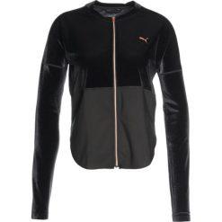 Puma STATEMENT  Kurtka sportowa puma black. Czarne kurtki sportowe damskie marki Puma, xs, z elastanu. W wyprzedaży za 383,20 zł.