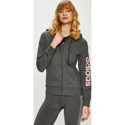 Adidas Performance - Bluza. Szare bluzy z kapturem damskie adidas Performance, l, z bawełny. Za 199,90 zł.
