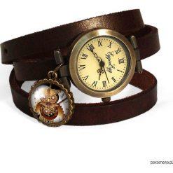 Skórzany zegarek Sowa - 0581. Brązowe zegarki damskie Pakamera. Za 120,00 zł.