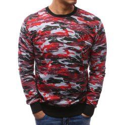 Bluzy męskie: Bluza męska camo czerwono-szare (bx3463)