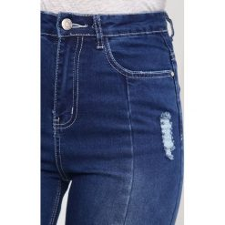 Missguided BLUE SINNER RIPPED Jeansy Slim Fit navy. Niebieskie jeansy damskie marki Missguided. Za 129,00 zł.