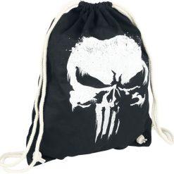 Torebki i plecaki damskie: The Punisher Logo Torba treningowa czarny