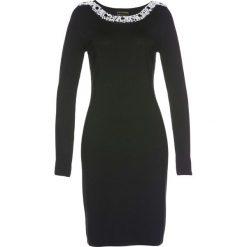 Sukienki dzianinowe: Sukienka dzianinowa Premium bonprix czarny