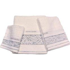 Kąpielówki męskie: 3-częściowy zestaw ręczników w kolorze bialym