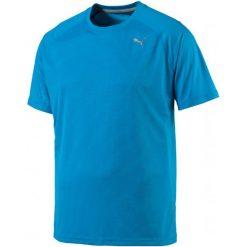Puma Koszulka Sportowa Core-Run S S Tee Blue Danube S. Niebieskie koszulki do fitnessu męskie Puma, l, ze skóry. W wyprzedaży za 75,00 zł.