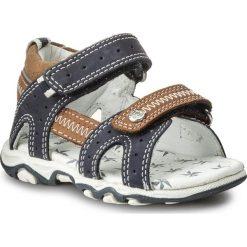 Sandały BARTEK - 11824-270 II Niebiesko Beżowy. Brązowe sandały chłopięce Bartek, z nubiku. W wyprzedaży za 139,00 zł.
