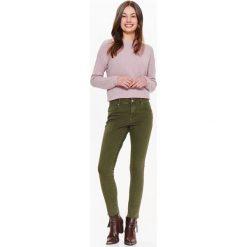 Spodnie damskie: SPODNIE DAMSKIE W KOLORZE KHAKI, RURKI