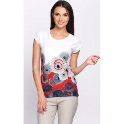 T-shirty damskie: Biało-Czerwony T-shirt Bellini