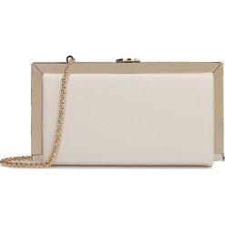 Kremowa kopertówka damska. Białe torebki na łańcuszku marki Kazar, ze skóry, eleganckie, na ramię, duże. Za 399,00 zł.