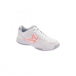 Buty tenisowe TS190 damskie. Białe buty do tenisu damskie ARTENGO, z kauczuku. Za 99,99 zł.