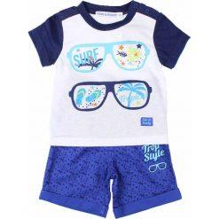 T-shirty chłopięce z nadrukiem: 2-częściowy zestaw w kolorze niebiesko-białym