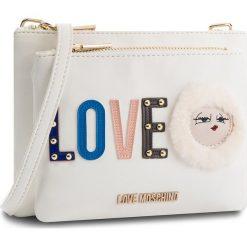 Torebka LOVE MOSCHINO - JC4274PP06KJ0100 Bianco. Białe listonoszki damskie Love Moschino, ze skóry ekologicznej. W wyprzedaży za 409,00 zł.