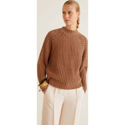 Mango - Sweter Oso. Szare swetry klasyczne damskie Mango, l, z dzianiny, z okrągłym kołnierzem. Za 159,90 zł.